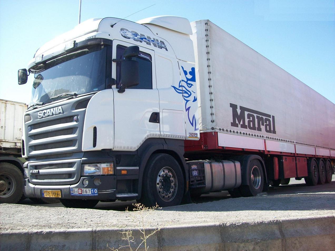 انواع کامیون در باربری میاندوآب