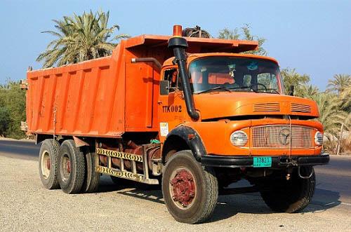 ابعاد کامیون جفت برای ارسال بار به رشت
