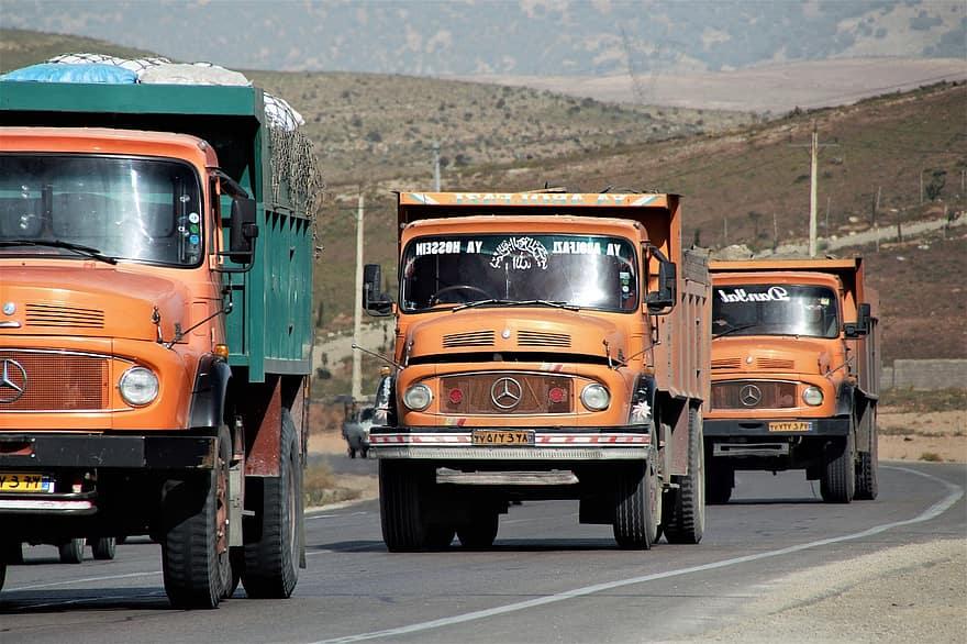 حمل بار با انواع کامیون به اسلامشهر